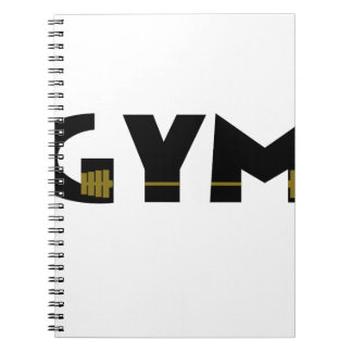 Gym and fitness spiral notebook