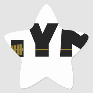 Gym and fitness star sticker