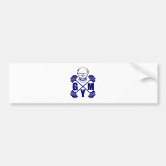 Gym and lifting bumper sticker