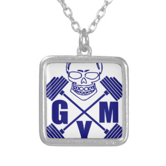 Gym and lifting silver plated necklace