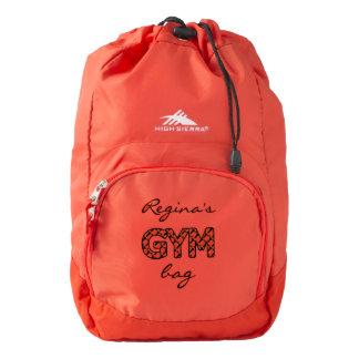 Gym Bag Name Customize Backpack