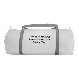 gym bag with a message