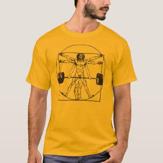 Gym Barbell Deadlift - Vitruvian Man T-Shirt