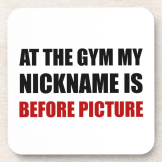 Gym Before Picture Beverage Coasters