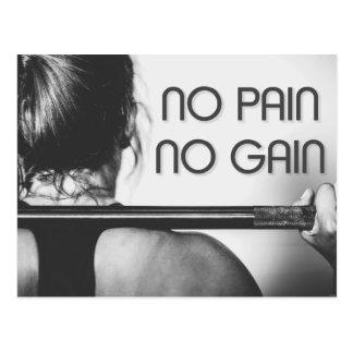 Gym Bodybuilding Fitness Motivational Postcard