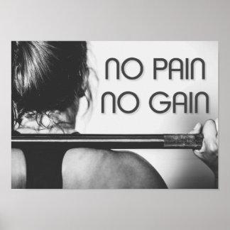 Gym Bodybuilding Fitness Motivational Poster