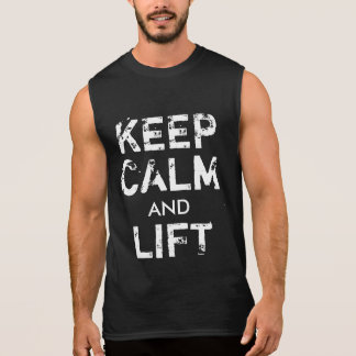 GYM Bodybuilding Keep Calm and Lift Dark T-shirt