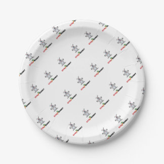 gym bunny 2 paper plate