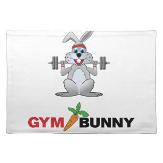 gym bunny 2 placemat