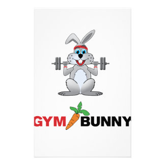 gym bunny 2 stationery