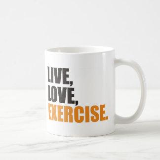 gym classic white coffee mug