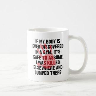 Gym Crime Scene Funny Mug
