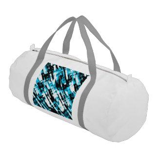 Gym Duffle Bag Blue Black abstract digitalart G253