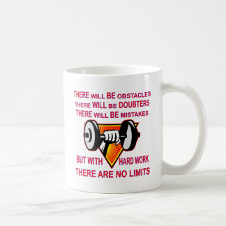 Gym Dumbbell There Are No Limits Coffee Mug