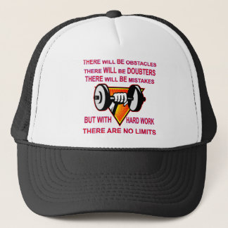 Gym Dumbbell There Are No Limits Trucker Hat