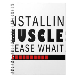 Gym fitness and muscles notebook