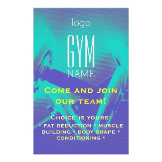 Gym flyer promotion