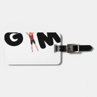 Gym funny texts luggage tag