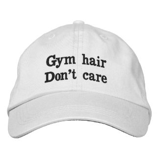 Gym Hair Don't Care Embroidered Hat