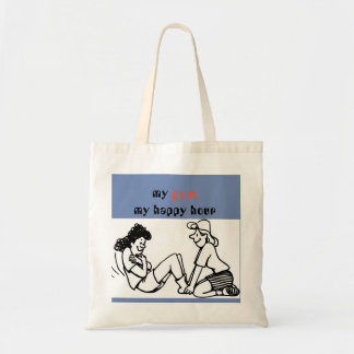 gym happy hour tote bag