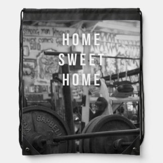 Gym - Home Sweet Home - Barbell - Workout Drawstring Bag
