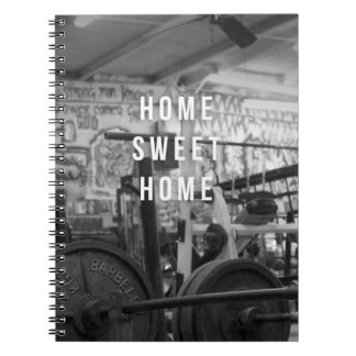 Gym - Home Sweet Home - Barbell - Workout Notebooks