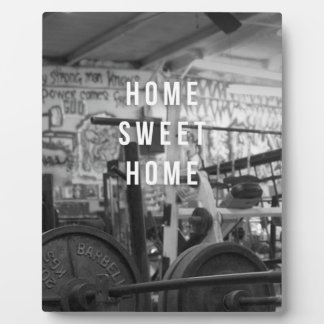 Gym - Home Sweet Home - Barbell - Workout Plaque