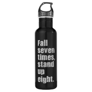 Gym Motivation - Fall Seven Times, Stand Up Eight 710 Ml Water Bottle