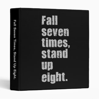 Gym Motivation - Fall Seven Times, Stand Up Eight Binders