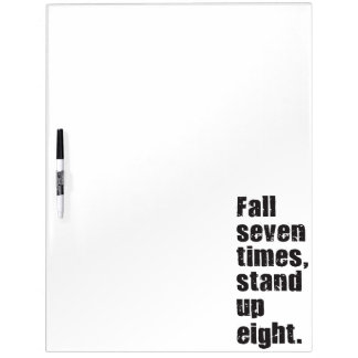 Gym Motivation - Fall Seven Times, Stand Up Eight Dry Erase Board