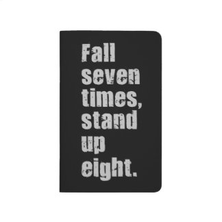 Gym Motivation - Fall Seven Times, Stand Up Eight Journal