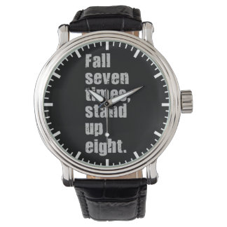 Gym Motivation - Fall Seven Times, Stand Up Eight Wrist Watches