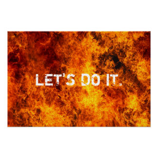 GYM Motivational Quote Let's Do it Poster