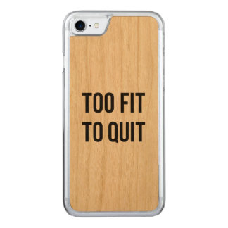 Gym Motivational Quotes Too Fit Black White Carved iPhone 7 Case