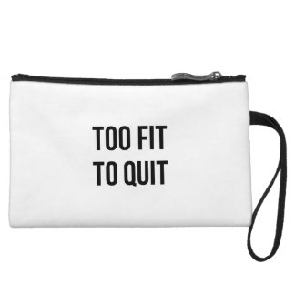 Gym Motivational Quotes Too Fit Black White Wristlets