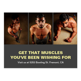 Gym Opening | Fitness Centre Marketing Direct Mail Postcard