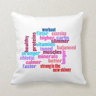gym or sports motivational pillow cushion