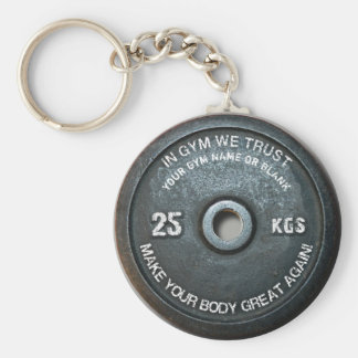 Gym Owner Fitness Workout Vintage Weight Funny Keychain
