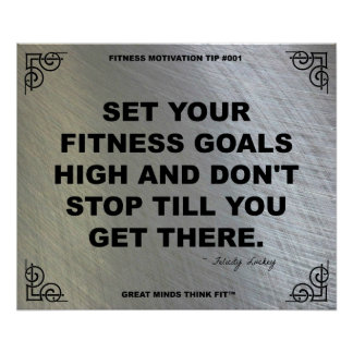 Gym Poster for Fitness Motivation #001