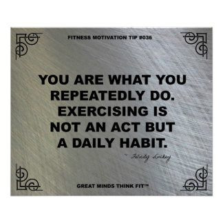 Gym Poster for Fitness Motivation #036