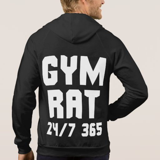 Gym Rat - 24/7 365 - Bodybuilding Hoodies