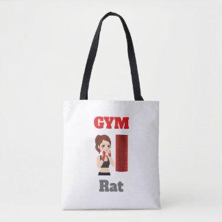 Gym rat emoji tote bag