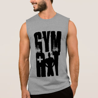 GYM RAT GYM FITNESS AND BODYBUILDING SLEEVELESS SHIRTS