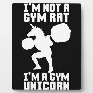 Gym Rat vs Gym Unicorn - Funny Workout Inspiration Plaque