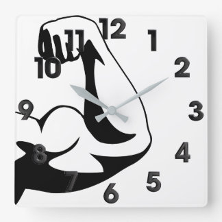Gym Square Wall Clock