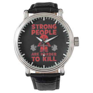Gym - Strong People Are Harder To Kill - Kawaii Wrist Watches