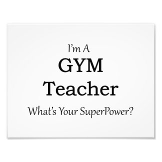 Gym Teacher Photo Art