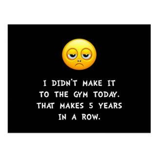 Gym Today Postcard