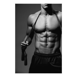 Gym Wall Poster - Abs & Chest