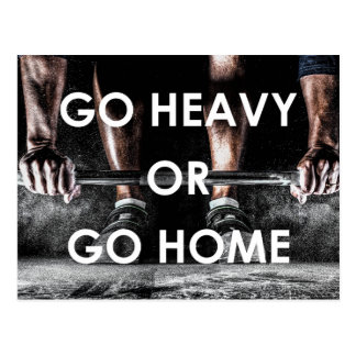 Gym Weights Training Fitness Motivational Postcard